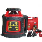 EGL624 Dual Grade Rotating Laser Kit general building site levelling plumbers drainage electronic auto levelling