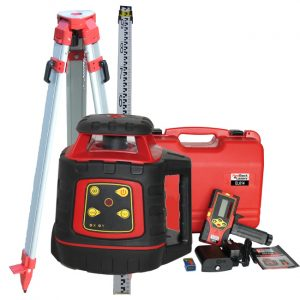 RedBack Lasers EL614P Package with tripod and staff concreters site levelling rotating laser electronic self levelling