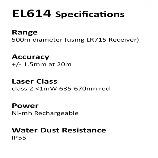 RedBack Laser EL614 Builders Laser