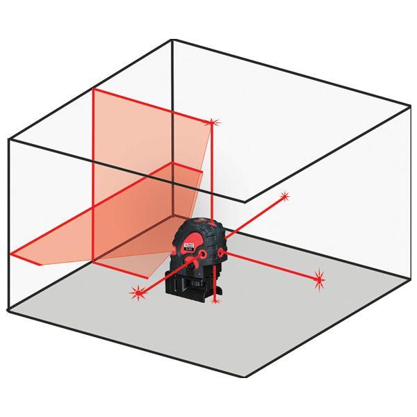 DLD5X Diagram redback lasers line and dot laser level