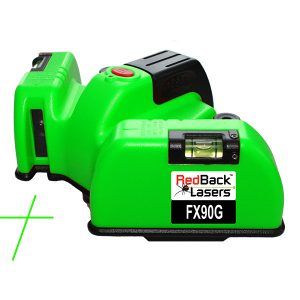 FX90G Green Floor Square Laser Tiling Tilers RedBack Lasers green laser level