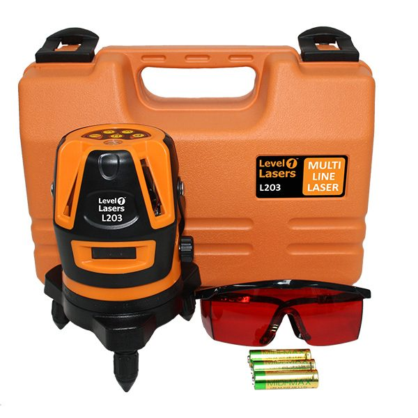 Level1 L203 Kit Multi Line Laser level horizontal vertical plumb and square interior fit out and installation