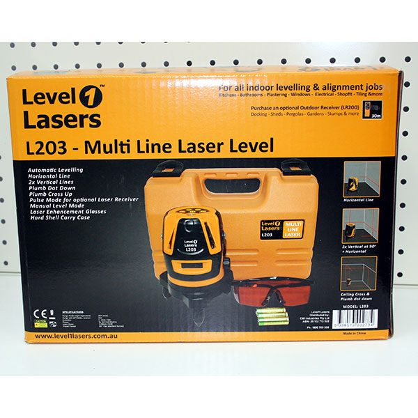 Level1 L203 Box Dual Cross Laser level align plumb and square