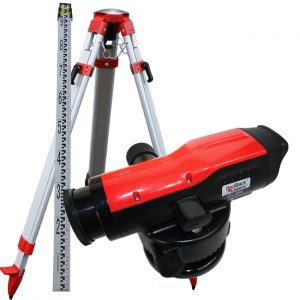 OL28XP Package Optical Dumpy Auto Level with tripod and staff