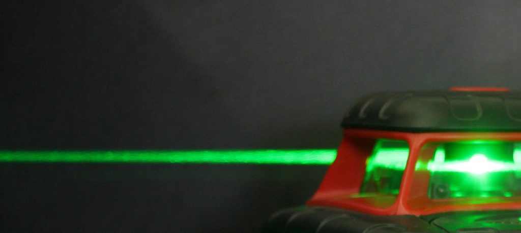 Green Beam Rotating Laser