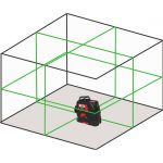 RedBack 3L360G Diagram 360 3D Multi Line Laser Level