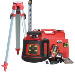 RedBack Lasers Concreters EL614 Electronic Levelling rotating laser with tripod and staff package