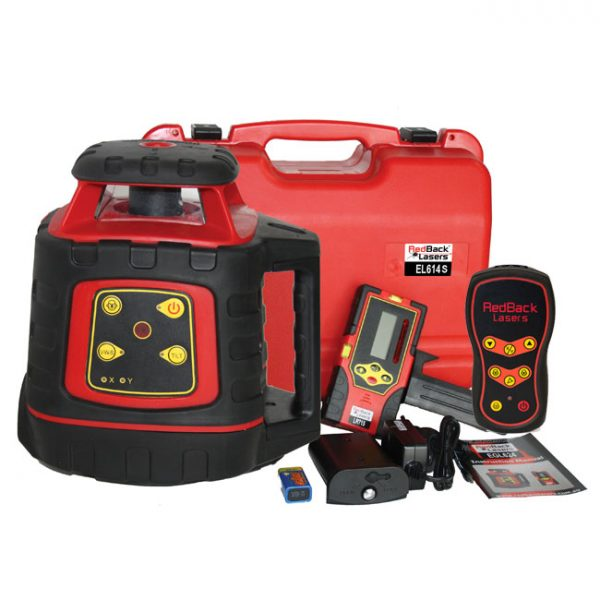 EL614S RedBack Lasers electronic self levelling rotating laser with grade and remote control
