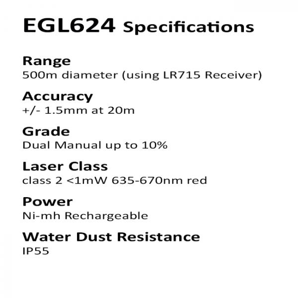 Laser Specifications EGL624 Rotaitng Builders Laser