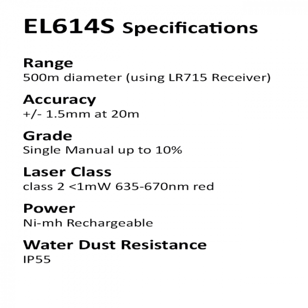 Builders and Construction Laser Specifications
