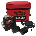 RedBack Lasers 3L360R+ 3D multi Line Laser with receiver for indoor and outdoor levelling alignment and square