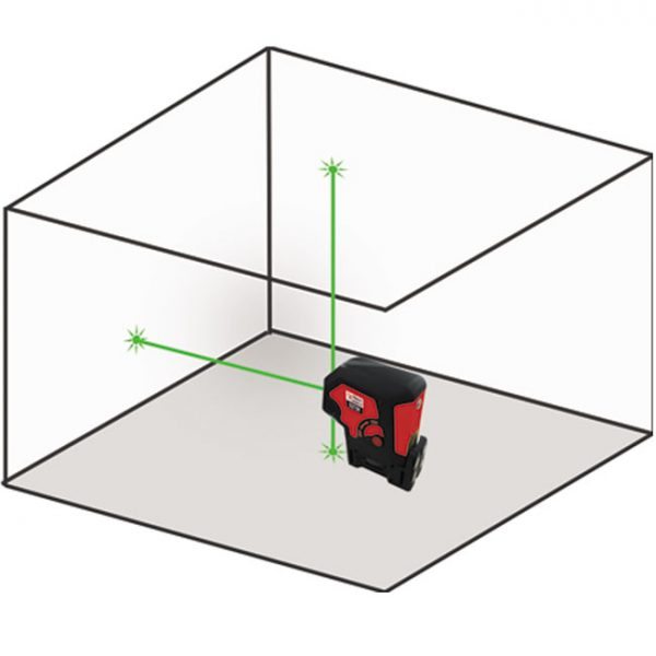 D273G green dot laser Ultra Bright 3 way 3 point laser level