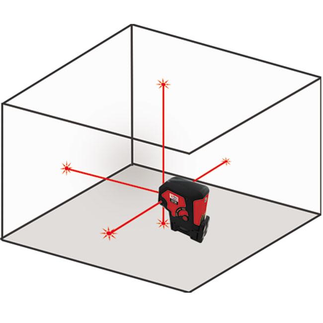 D275r Redback Lasers 5 Dot Laser Level Red Redback Lasers