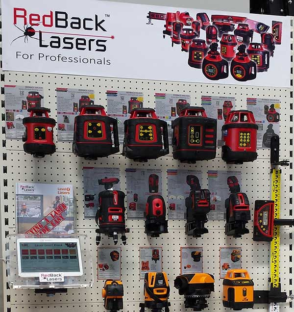 RedBack Lasers Display Stand laser level stores