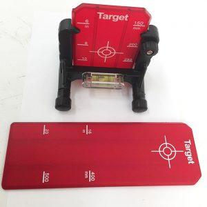 LS650 Pipe Red Laser Laser Target Set RedBack Lasers