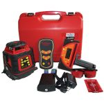 EGL624GM Auto Tracking Laser Level Kit Dual Grade with millimeter receiver available as a green beam laser green624GM