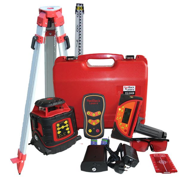 EGL624GM Auto Grade Match Laser Level Package with Tripod and Staff