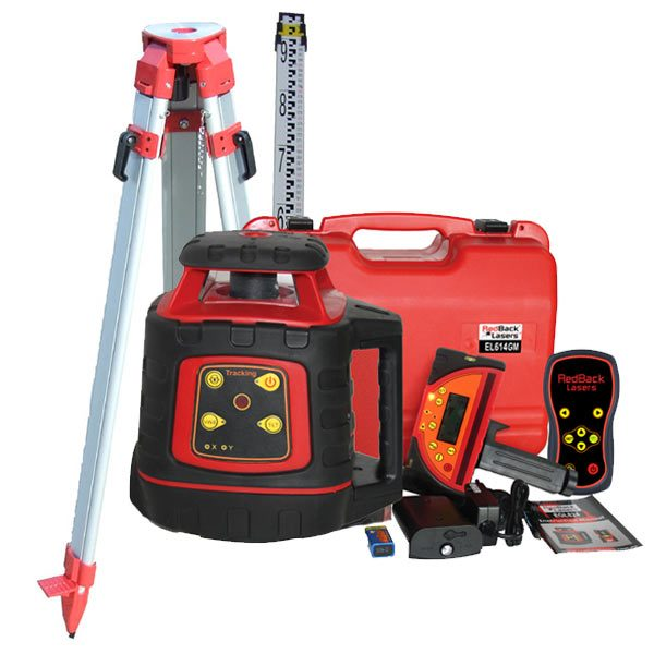 EL614GM Auto Grade Match Tracking Rotating Laser level Package