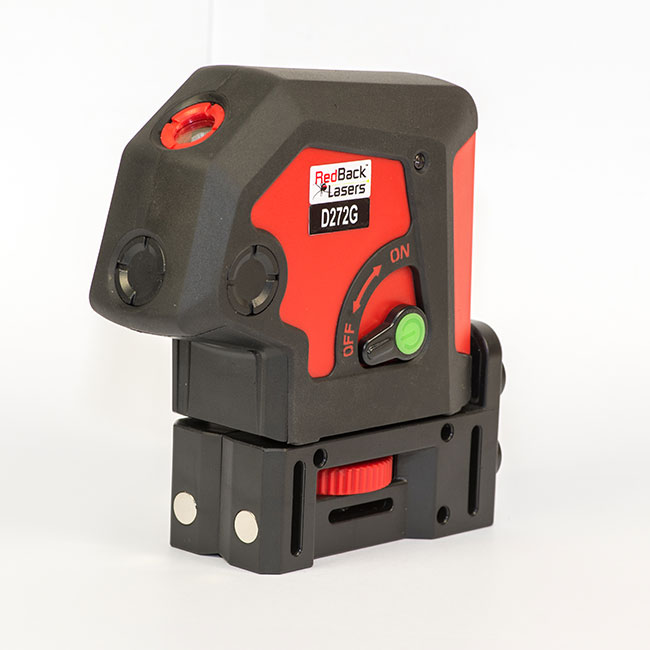 RedBack Lasers D272G Green Beam Laser plumb 2 dot laser 2 way 2 point ultra bright green laser