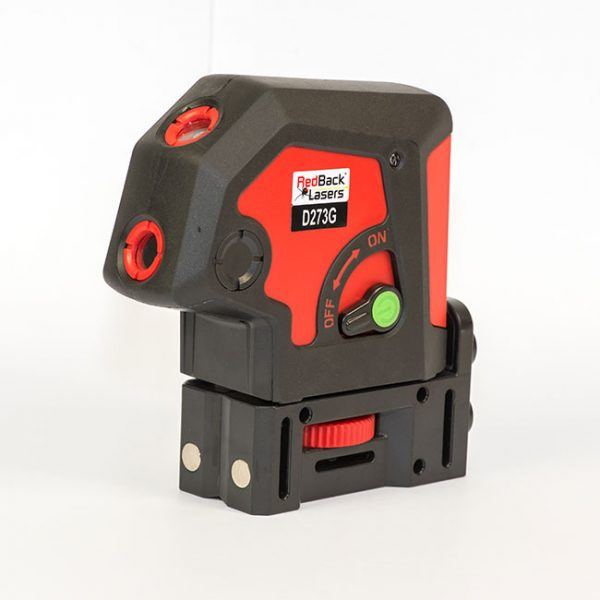 RedBack plumb laser and level Lasers D273G Green 3 Dot laser 3 way 3 point green laser ultra bright
