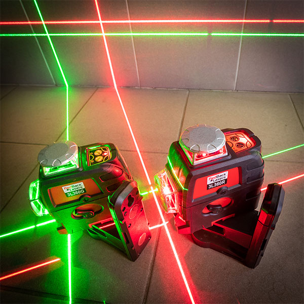 RedBack 3L360R 3L360G red and green range 360 3D Multi Line Laser