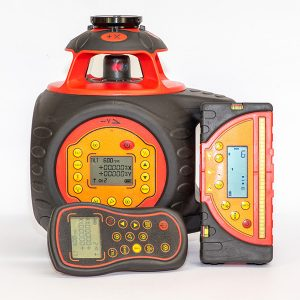 RedBacking Lasers DGL1010GM Digital Grade with tracking laser level for sale includes tracking millimeter receiver horizontal & Vertical Operation levels Brisbane Melbourne Perth