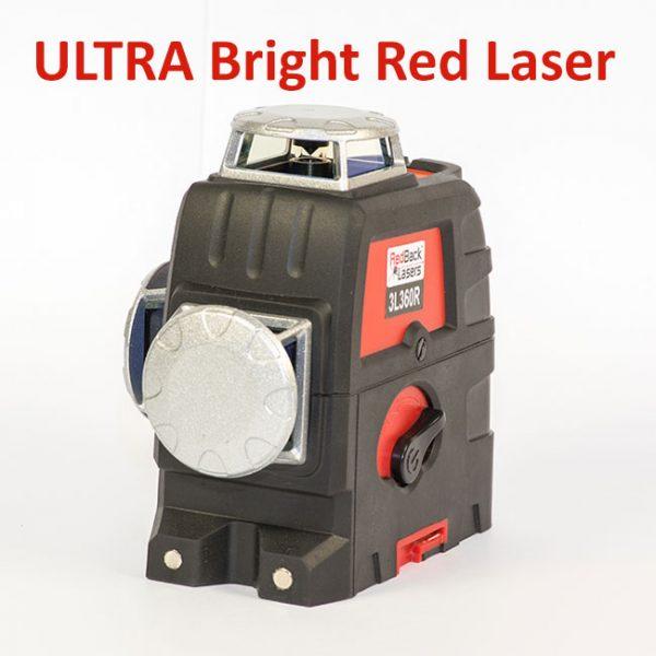 RedBack Lasers Ultra Bright Red Laser 3L360R 3D multi Line Laser