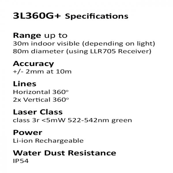 Green Multi Line Laser Specifications