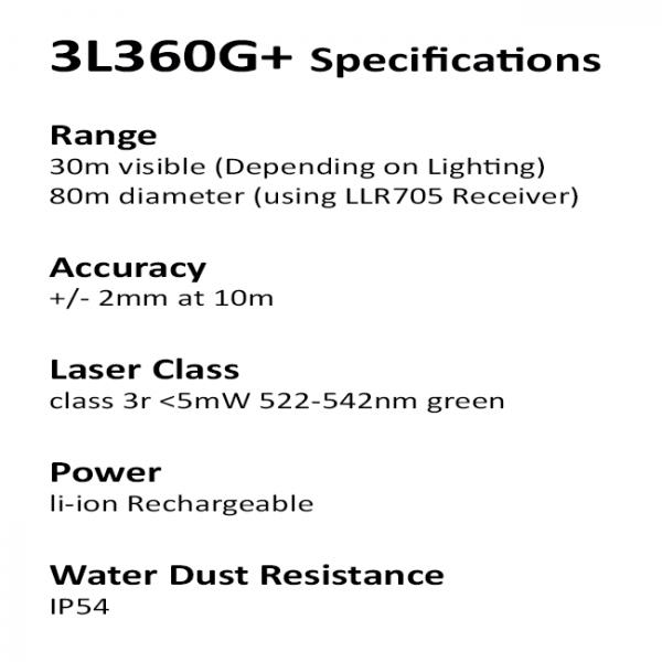 3l360g+ redback green multiline laser specifications