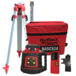 Basic614 electronic levelling rotting laser package with tripod and staff