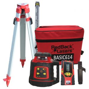 BASIC614P Package laser level with Tripod and Staff