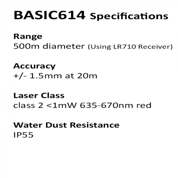 basic614 specifications redback laser