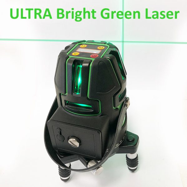 Green Multi Cross Line Laser level with servo electronic leveling