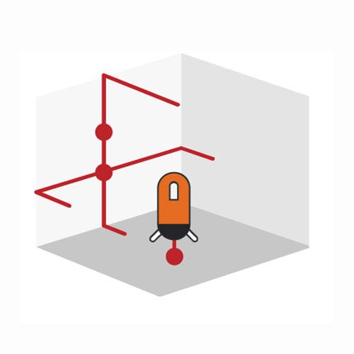 UN671D cross line laser Diagram