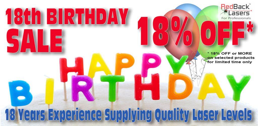 Laser level Birthday Sale