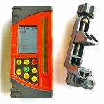 Line millimeter receiver with laser range finder distance measure