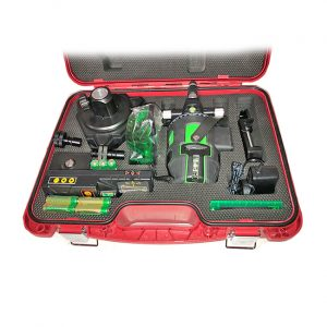 RedBack lasers XLG44AT Auto square kit with Multi Green Line laser and auto tracking base